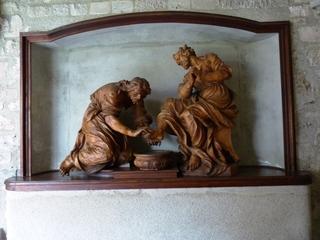 Figurengruppe von Giuliani (Heiligenkreuz) - Religion, Skulptur, Giuliani, Kunst, Barock, Heiligenkreuz, Christus, Petrus