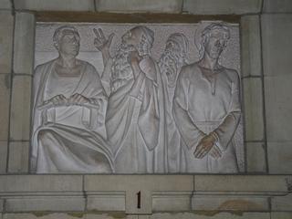 Kreuzweg 1  - Religion, Kreuzweg, Jesus, Pilatus, katholisch, Tod, Skulptur, Station, Kreuzwegstation, Leidensweg
