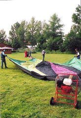 Ballonfahrt #2 - Ballon, Ballonfahrt, Heißluft, Heißluftballon, Auftrieb, Luft, fliegen, bunt, Feuer, Korb