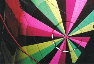 Ballonfahrt #11 - Ballon, Ballonfahrt, Heißluft, Heißluftballon, Auftrieb, Luft, fliegen, bunt, Feuer, Korb, symmetrisch, rund, Was_ist_das#3