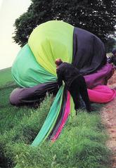 Ballonfahrt #13 - Ballon, Ballonfahrt, Heißluft, Heißluftballon, Auftrieb, Luft, fliegen, bunt, Feuer, Korb