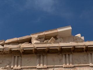 Parthenon Athen - Metopen, Pferdekopf, Ostgiebel des Parthenon, Gigantomachie, Fries