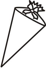 Schultüte - Schultüte, Zuckertüte, Schulanfang, Erstklässler, Anlaut Sch, Anlaut Z