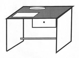 Schreibtisch - Schreibtisch, schreiben, arbeiten, üben, Hausaufgaben, Tisch, Büro, Schreibunterlage, Schreibarbeiten, Möbelstück, Schublade