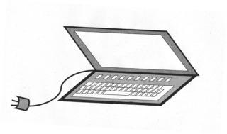 Laptop - Laptop, Computer, PC, Informatik, schreiben, spielen, Computerspiel, Kabel, Stecker