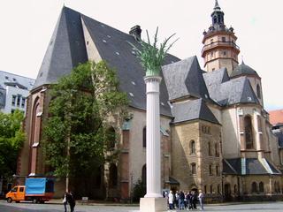 Nikolaikirche in Leipzig - 1989, Leipzig, Montagsdemos, Nikolei Kirche, Montagsdemonstrationen,