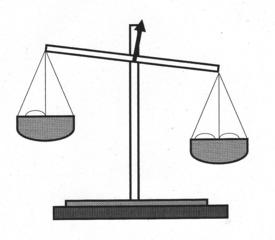 Waage - Balkenwaage, Waage, messen, Masse, Kilogramm, Gleichgewicht, Wiegevorrichtung, wiegen, Gewicht, Waagschale, Hebel, Hebelgesetz, zwei, Anlaut W