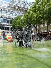 Ragtime - Jean Tinguely, Paris, Stravinskibrunnen, Kunst, Künstler, Skulptur, Eisen, schwarz, Wasser, Ragtime, Herz, Röhre