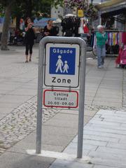Fußgängerzone in Nyköbing/Falster - Verkehrsschild, Fußgängerzone, Dänemark, Nyköbing/Falster