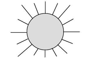 Sonne - Sonne, sonnig, Sonnenschein, Natur, Wetter, Himmel, strahlen, hell, Licht, leuchten, heiß, Anlaut S, Illustration, Wörter mit Doppelkonsonanten