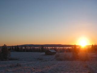 Winter am Polarkreis - Wetter, Winter, Polarkreis, Sonne, Schnee, Finnland