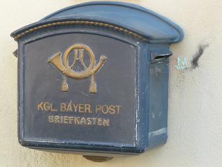 alter Briefkasten - Briefkasten, Post, Brief, Rothenburg, bayerische Post