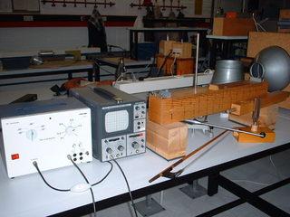 Ein Monochord - Physik, Akustik, Monochord, Oszilloskop, Schwingung, Schwingungen