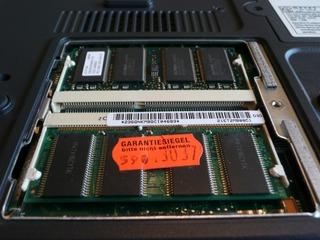 Notebookbestandteile #03 - Informatik, Notebook, Rechner, Laptop, tragbar, RAM-Sockel, RAM, Arbeitsspeicher