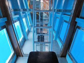 Glasbodenboot - Glasbodenboot, Boot, Schiff, Meer, Wasser, See, Tourismus, Fenster, blau, symmetrisch, tauchen, Glas, Perspektive
