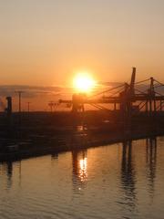 Hafen  - Helsinki, Abend, Hafen, Sonnenuntergang, Abendrot