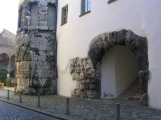 Porta Praetoria - Porta Praetoria, Römer, Regensburg, castra Regina, Lager, Legionslager, Tor