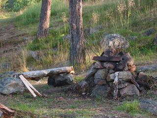 Feuerstelle - Feuerstelle, Wald, Steine, grillen, feiern, Freizeit, Schreibanlass