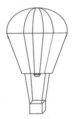 Heißluftballon #2 - Heißluftballon, Ballon, fliegen, fahren, Luft, Luftfahrzeug, Auftrieb, Korb, Transport, Physik