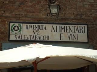 Ladenschild - Laden, Schild, Tabacchi, Italien, Sali, Certaldo, Toskana