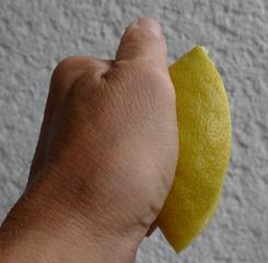 Bilderrebus   *Zitronenfalter* - Falter, Schmetterling, Bilderrebus, Bildrätsel, Zitrone, drücken, falten, Zitronenfalter