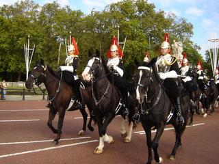 changing of the guard - Pferde, London, Buckingham Palace, guard, Wachablösung, Reiter, Queen, Wache