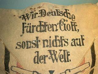 Spruch auf einem Kissen - Bismarck - Kissen, Spruch, Fund, Schiffswrack, Museum, Zitat, Bismarck