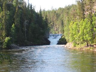 Oulanka Nationalpark  - Oulangan kansallispuisto, Finnland, Nationalpark, wandern, Freizeit, Landeskunde, Noreuropa, Geografie, karhunkierros, Bärenpfad, Bärenrunde, Wasserfall