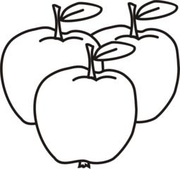 Äpfel - Apfel, Äpfel, drei, Obst, Frucht, Anlaut Ae