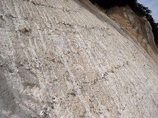 Kreidefelsen #4 - Rügen, Kreidefelsen, Natur, Landschaft, Sedimentgestein, Calciumcarbonat, Geologie, Steilküste, Wald, Wolken, Himmel, Saßnitz, Abbruch, Bodenzerstörung, Erosion, Kreide, Kalk, Ablagerung, Schichten