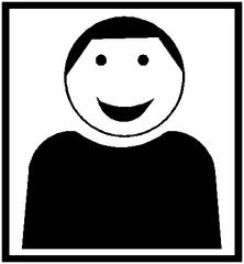 Piktogramm Kooperatives Lernen - Einzelarbeit #4 - Einzelarbeit, Sozialform, Stillarbeit, selbständig, eigenverantwortlich, Arbeitsform