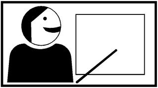 Piktogramm Kooperatives Lernen - Präsentation #2 - Präsentation, Ergebnis, präsentieren, Einzelarbeit, Ergebnis, Ergenissicherung, Vortrag, Einzelergebnis