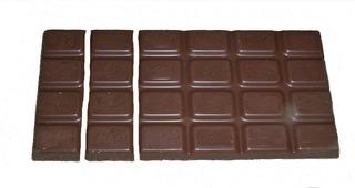Bruchrechnung mit Schokolade #3 - Schokolade, Tafel, braun, süß, naschen, Stücke, Naschwerk, lecker, Bruch, Bruchrechnen, Teil, Teile, teilen, aufteilen, Brüche, Bruchteile, Bruchrechnung, Sechstel, sechs.