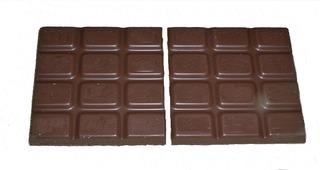 Bruchrechnung mit Schokolade #4 - Schokolade, Tafel, braun, süß, naschen, Stücke, Naschwerk, lecker, Bruch, Bruchrechnen, Teil, Teile, teilen, aufteilen, Brüche, Bruchteile, Bruchrechnung, halb, Hälfte, ein Halbes, halbieren