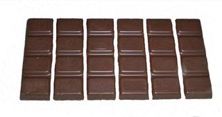 Bruchrechnung mit Schokolade #10 - Schokolade, Tafel, braun, süß, naschen, Stücke, Naschwerk, lecker, Bruch, Bruchrechnen, Teil, Teile, teilen, aufteilen, Brüche, Bruchteile, Bruchrechnung, Sechstel, sechs.