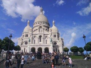 Montmartre - Paris, Frankreich, Montmartre, Stadtbezirk, Basilika, SacreCoeur, Kirche, Wallfahrtskirche, Sakralbau
