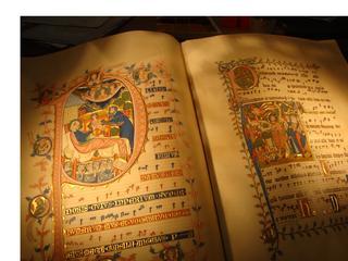 Altes Buch - Buchdruck, Buch, Gutenberg, Erfindung, Geschichte, Mittelalter, Neuzeit, bewegliche Lettern, Initiale