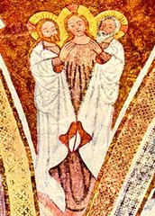 Fresko Trinität - Fresko Trinität Trinitätslehre Dreifaltigkeit, Vater, Sohn, Heiliger Geist
