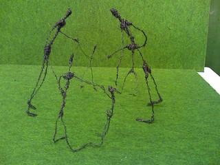 Giacometti Drahtfiguren - Draht, Plastik, Kunst, Figuren, Giacometti, Werken, formen, biegen