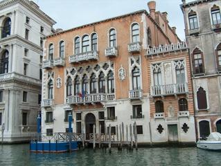 Gotischer Palazzo am Canal Grande - Architektur, Venedig, gotisch, Gotik, piano nobile, dominierender Mittelteil, Palazzo, Kanal, Haus, Canal Grande