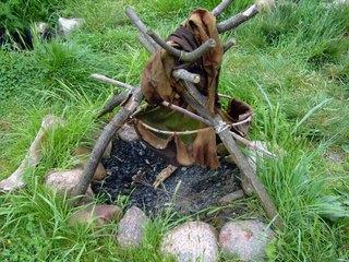 Steinzeitliche Kochstelle - Altsteinzeit, Steinzeit, Kochstelle