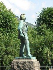 Edvard Grieg Denkmal in Bergen / Norwegen #1 - Edvard Grieg, Norwegen, Musik, Romantik
