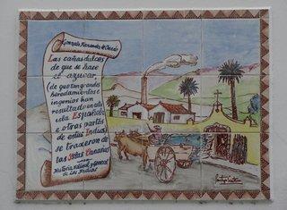 Las canas dulces - Spanische Hausinschrift - Inschrift, Kachel, Spanisch