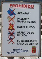 Prohibido - Verbotsschild in spanischer Sprache - Verbotsschild, Spanisch