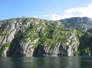 Norwegen Trollfjord Felsformation #2 - Norwegen, Felsen, Meer, Fjord, Erosion