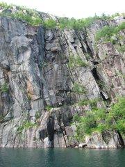 Norwegen Trollfjord Felsformation #3 - Norwegen, Felsen, Formation, Erosion, Fjord, Klüfte