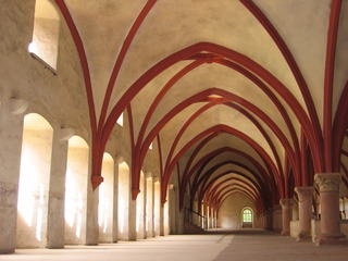 Gewölbe Kloster Eberbach #1 - Gewölbe, romanisch, Kloster, Kreuzgang, Kreuzgewölbe