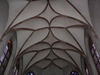 Netzgewölbe - Netzgewölbe, Gewölbeform, spätgotisch, Profilbänder, Rippen, Gewölbefeld