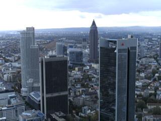 Frankfurt/Main #2 - Frankfurt/Main, Stadt, Hochhäuser, Maintower, Blick, Skyline