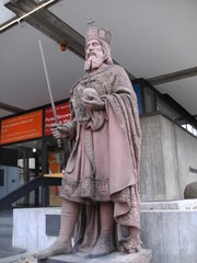 Kaiser Karl der Große - Denkmal, Karl der Große, Frankfurt/Main, Gründer, alt, Geschichte, Museum